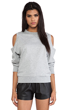 Cheap Monday Holey Sweat in Grey Melange