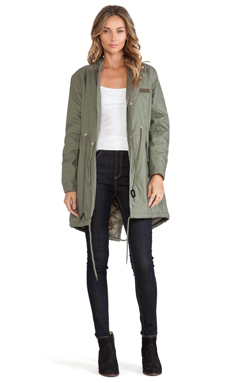 Cheap Monday Wanted Parka in Army Green