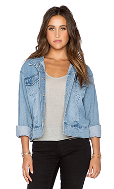 Cheap Monday Slouchy Denim Jacket in Whale