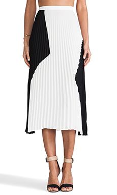 Charles Henry Pleated Skirt in Black & White