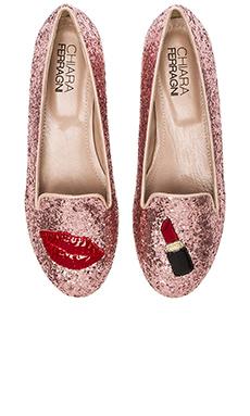 Chiara Ferragni Lipstick Flat in Pink
