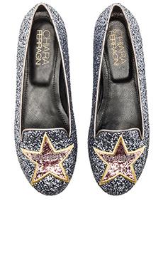 Chiara Ferragni Star Flat in Silver