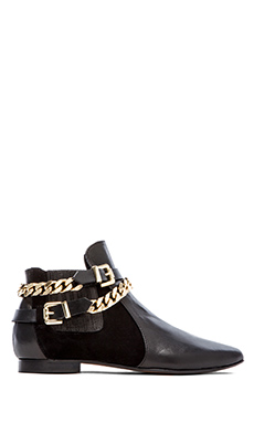 Chiara Ferragni Chain Low Bootie in Black
