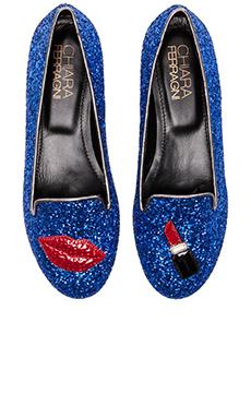 Chiara Ferragni Lips and Lipstick Flat in Blue