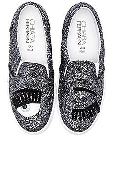 Chiara Ferragni Wink Slip-On Sneaker in Silver/Blue