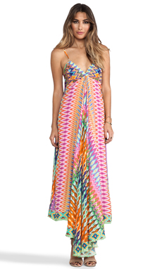 Camilla Loom Lovers Triangle Top Maxi Dress in Multi