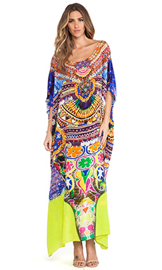 Camilla Round Neck Caftan in Sacred Charm