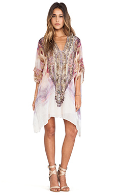 Camilla Short Lace Up Caftan in Halcyon Days