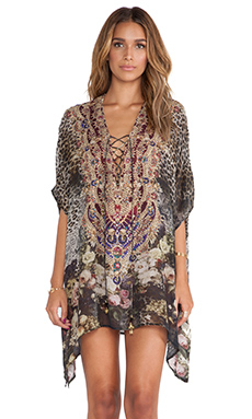 Camilla Short Lace Up Kaftan in The Lover