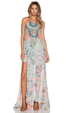 Camilla Sheer Overlay Dress in Garden Of Dreams