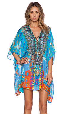 Camilla Short Lace Up Kaftan in Take My Hand