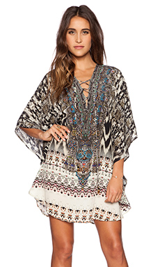 Camilla Short Round Lace Up Kaftan in Call of the Wild
