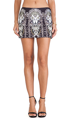 Camilla All Over Embroidered Mini Skirt in Unguarded Virtue