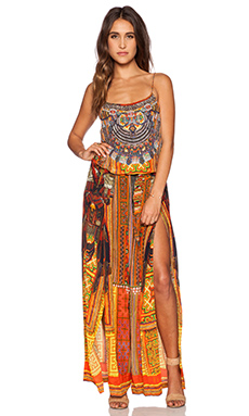 Camilla Shoestring Strap Jumpsuit in Ancient Magic Adorns