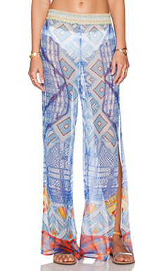 Camilla Side Split Pant in Crossing Paths