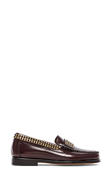 Caminando Studs Loafer in Wine