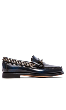 Caminando Bit Studs Loafers in Navy Leather