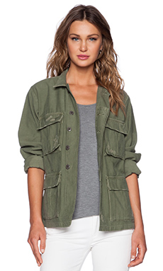 Citizens of Humanity Kylie Military Jacket in Combat Green