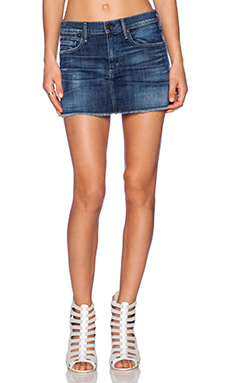 Citizens of Humanity Daria Mini Skirt in Blue Ridge