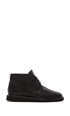 Clae Strayhorn Vibram in Black Debossed Leather