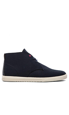Clae Strayhorn Textile in Deep Navy Waxed Canvas