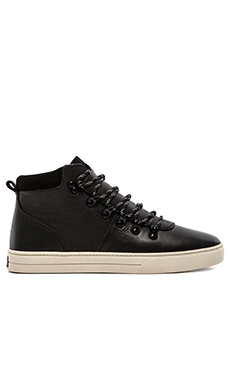 Clae Grant in Black Leather