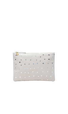 Clare Vivier Flat Clutch in Buff Amalfi
