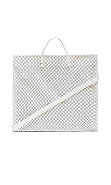 Clare V. Simple Tote in Cream Michelangelo Perf