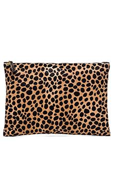 Clare V. Oversize Clutch in Leopard