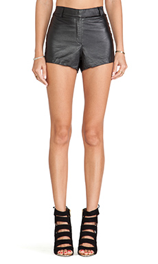 Cleobella Anna Leather Short in Black