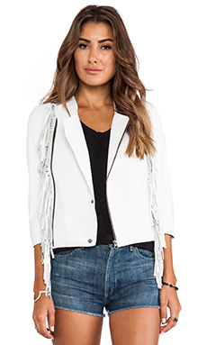 Cleobella Everly Fringe Jacket in White