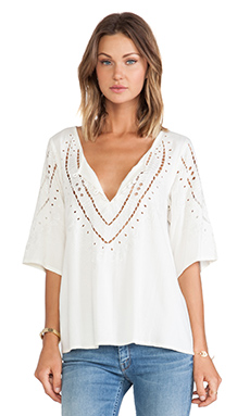 Cleobella Vett Top in Ivory