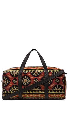 Cleobella Jave Duffle Bag in Sunset Ikat & Black
