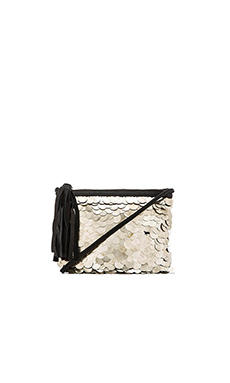 Cleobella Wolf Crossbody in Silver Coin
