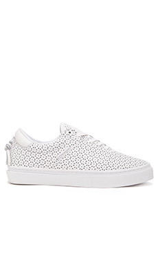 Clear Weather The Ninety in White Perforated Leather