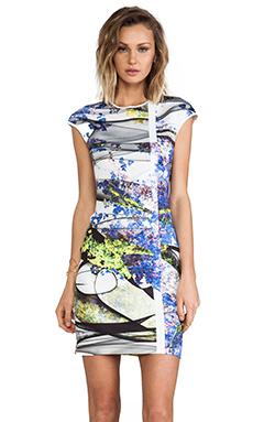 Clover Canyon Space Garden Neoprene Dress in Multi