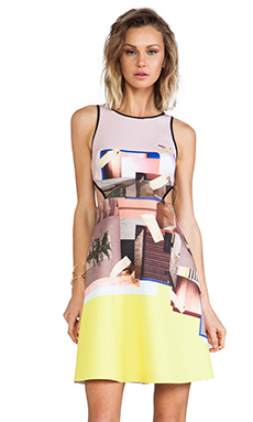 Clover Canyon New Home Cut Out Neoprene Dress in Multi