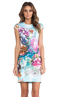 Clover Canyon Pool Flower Neoprene Dress in Multi