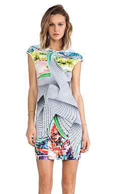 Clover Canyon Sculpture Garden Neoprene Dress in Multi