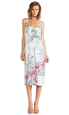 Clover Canyon Floral Line Drawing Dress in Multi
