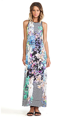 Clover Canyon Enchanted Garden Jersey Maxi Dress in Multi