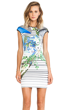 Clover Canyon Corfu Swirl Neoprene Dress in Multi