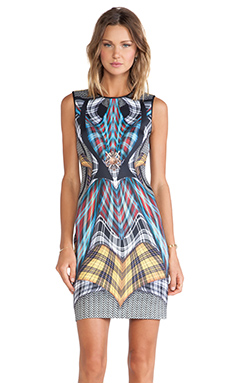Clover Canyon Flight Of The Earls Neoprene Dress in Multi