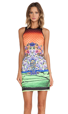 Clover Canyon Newgrange Clover Pastures Neoprene Dress in Multi