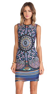 Clover Canyon Stained Glass Neoprene Dress in Multi