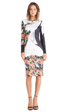 Clover Canyon Lady Wilde Neoprene Dress in Multi