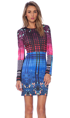 Clover Canyon Enchanted Woodlands Neoprene Dress in Multi