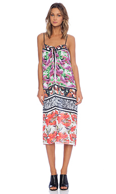 Clover Canyon Floral Scarf Print Tank Dress in Multi