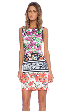 Clover Canyon Floral Scarf Print Shift Dress in Multi