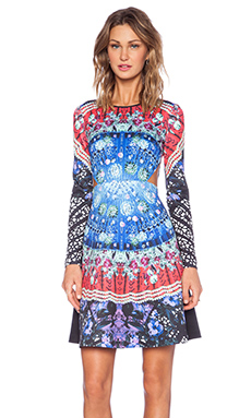 Clover Canyon Spanish Fan Long Sleeve Dress in Multi